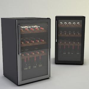 wine fridge general 3D