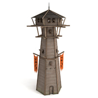 3D watchtower wooden guard