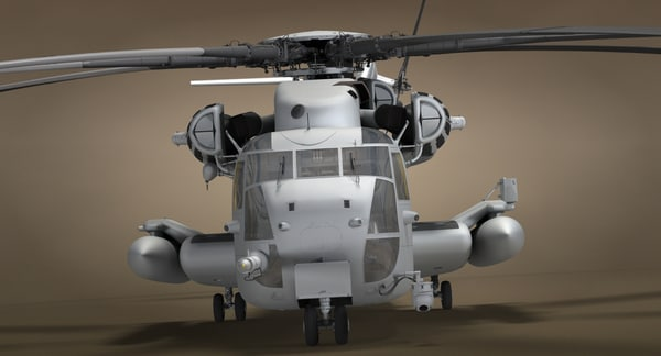 3D ch-53 military helicopter model