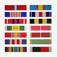 Military Ribbons Collection - 14 Army ranks
