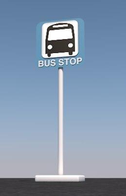 bus stop sign 3D model