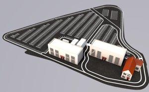 3D parking lot model