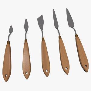 palette knife set model