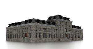 asylum building 3D