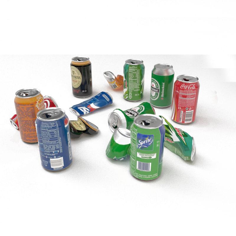 coke fanta 3D model