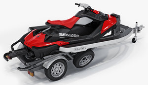 sea-doo spark trailer 3D model