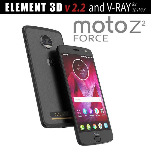3D black moto z2 model
