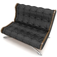 Black leather sofa for cinema