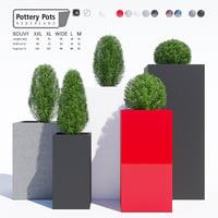 3D pots pottery model
