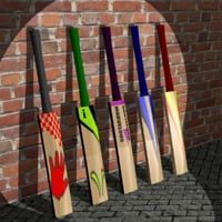 Cricket Bat - Low Poly - Sports