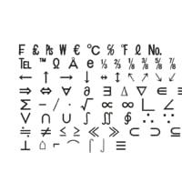 3D symbols4 ms gothic font