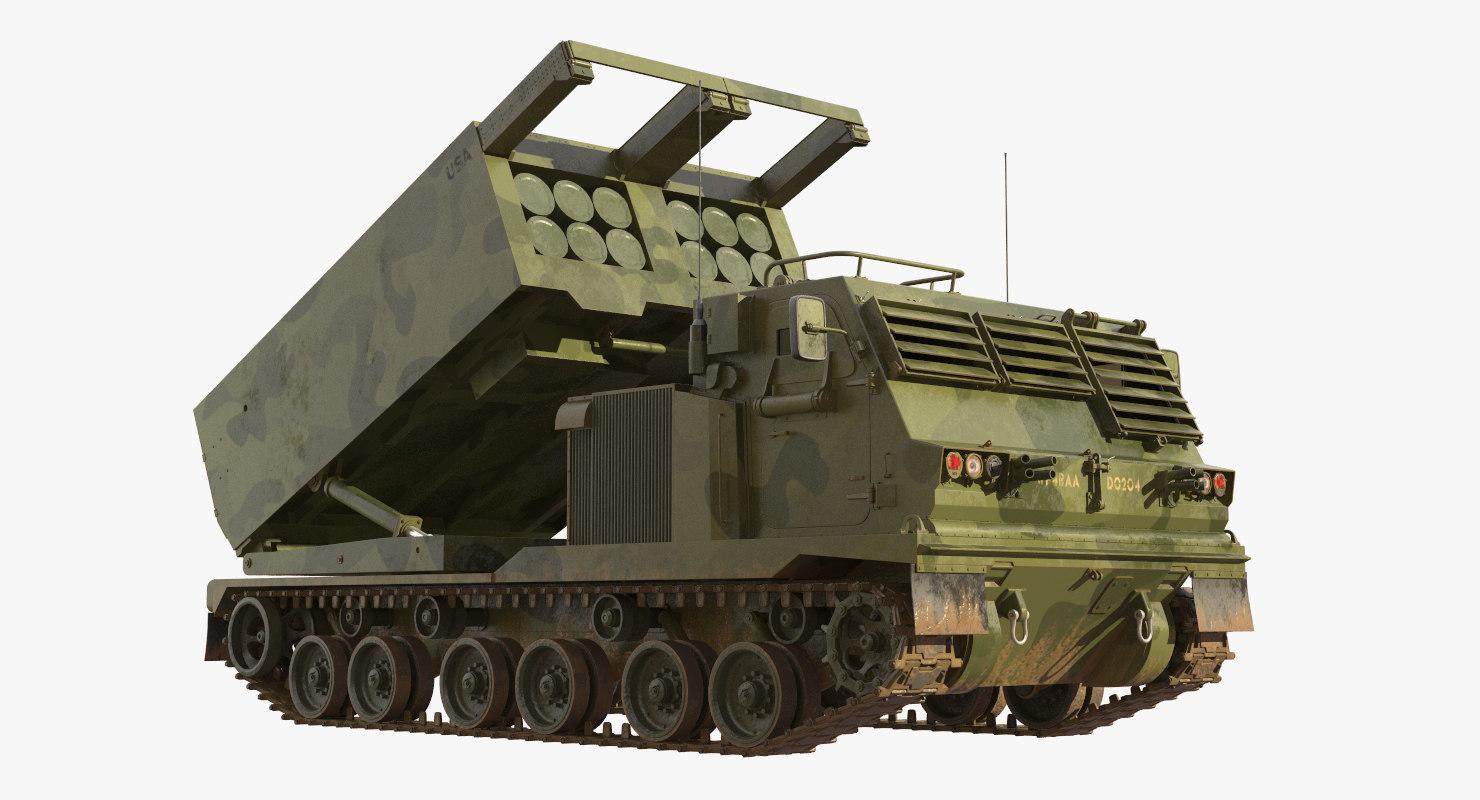 3D m270 multiple launch rocket model