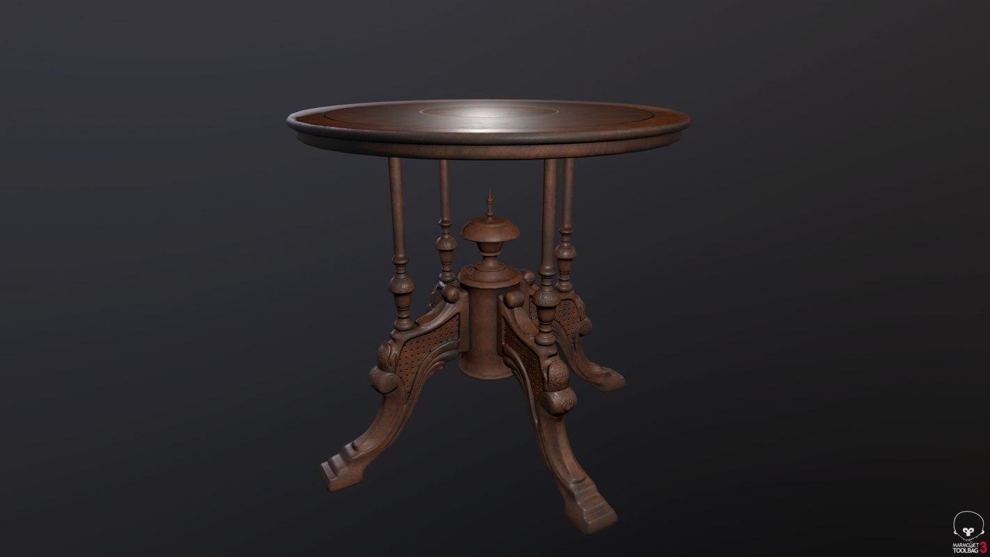modelled victorian table 3D model