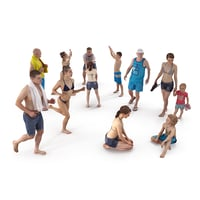 beach people 3D model