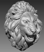The head of a lion 3D print model