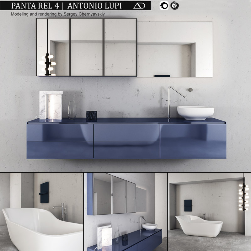 3D bathroom furniture set panta