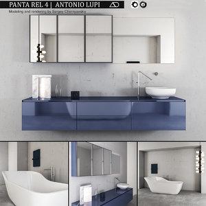 3D bathroom furniture set panta