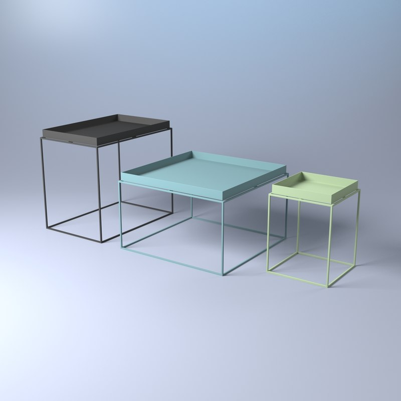 Exceptional Hay Tray Table 3D Model