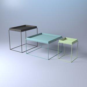 hay tray table 3D model