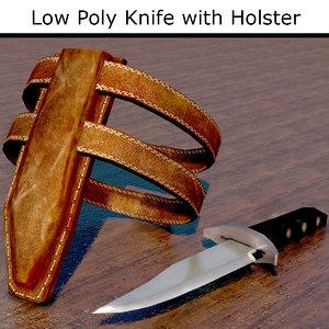 knife holster 3D model