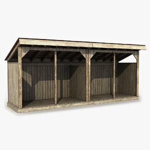 wooden shed model