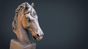 3D model horse bust