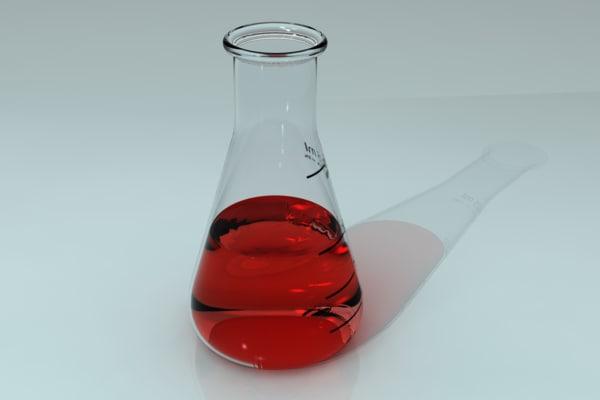 3D erlenmeyer flask 125ml model