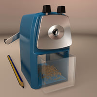 3D manual pencil sharpener hand