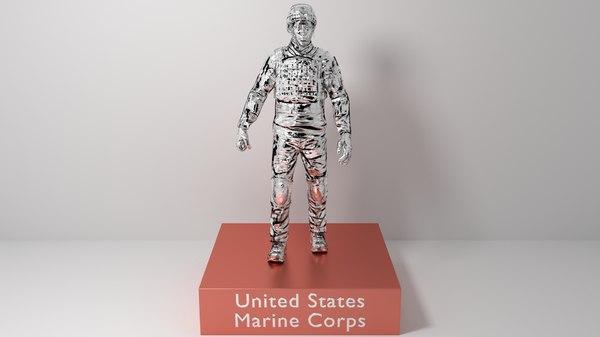 trophy united states marine 3D model