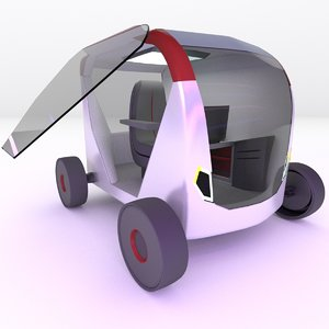 concept styled single seater 3D