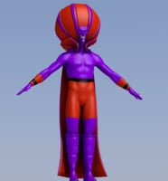 villain evil man 3D model