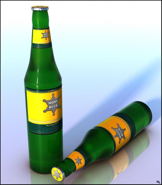 beer bottle 3D