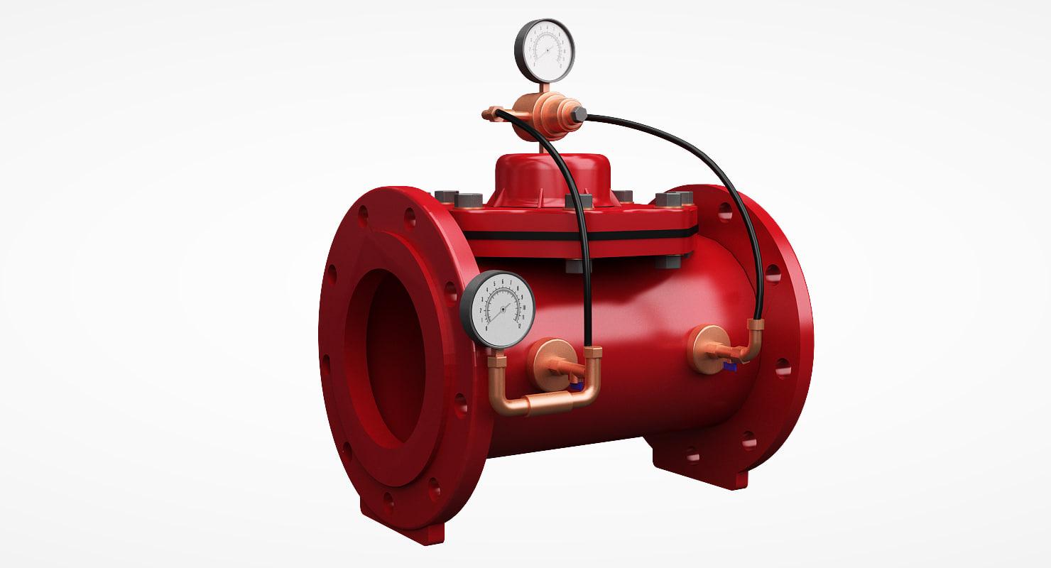 3D pressure control valve