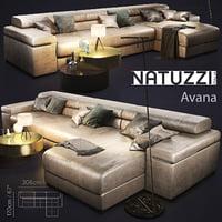 3D sofa natuzzi avana model