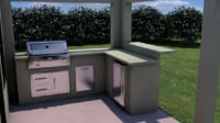 3D outdoor kitchen