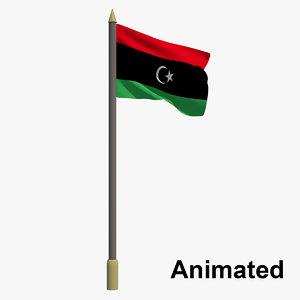 flag libya - animation 3D model