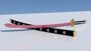 shusui swords roronoa zoro 3D