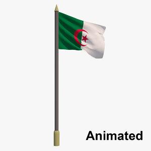 3D model flag algeria - animation