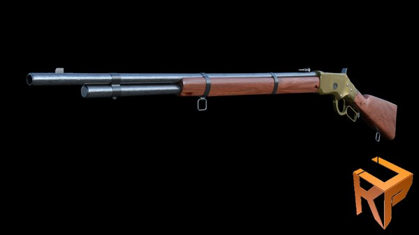 3D winchester 1866 model