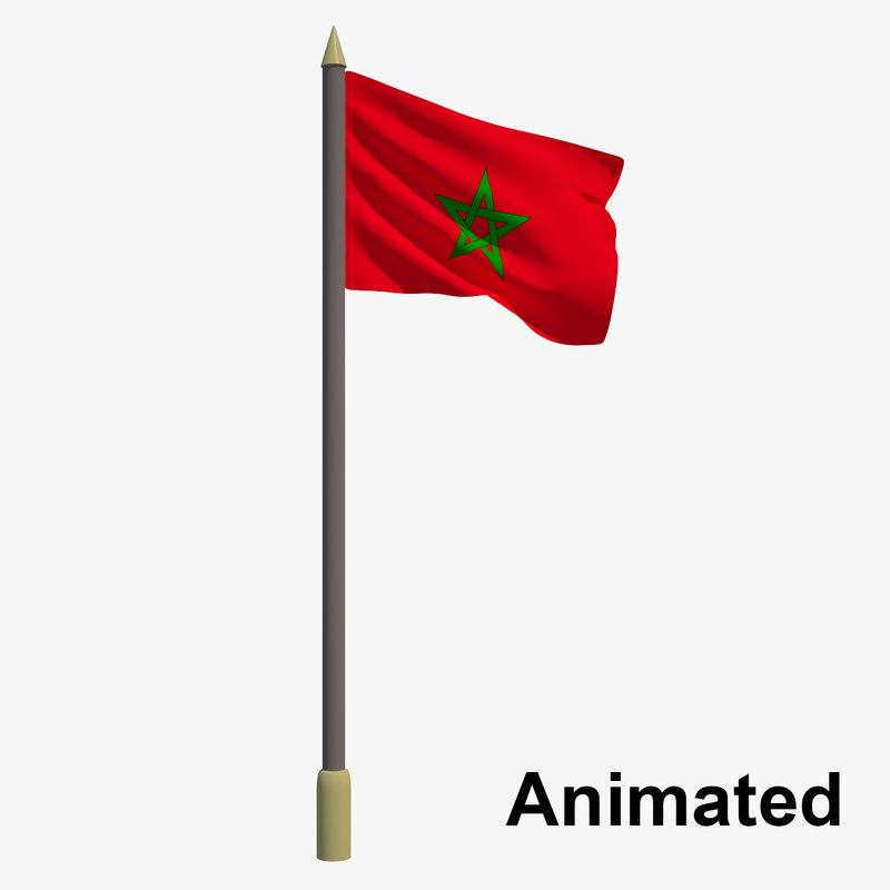3D flag morocco - animation - TurboSquid 1191000Uae Flag Animation