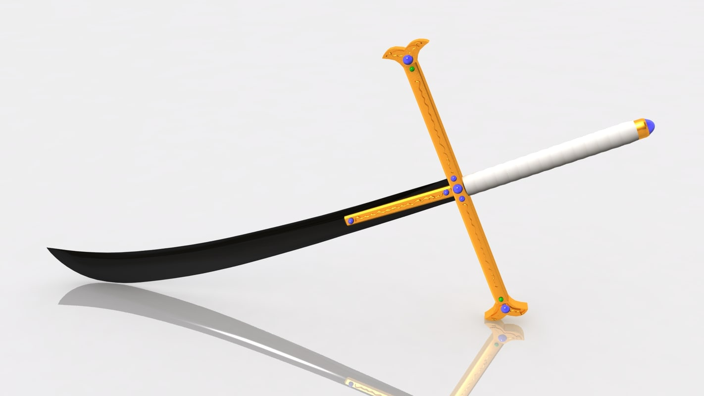 kokuto yoru swords mihawk 3D model