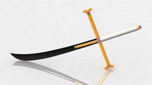 kokuto yoru swords mihawk 3D model