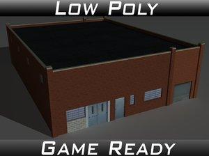 3D factory building 25 model