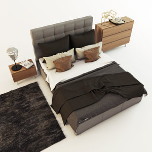3D boconcept mezzo bed