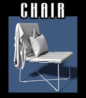 chair vest pillow 3D model