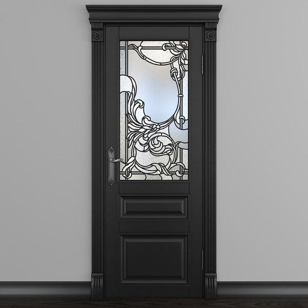 door stained-glass doorway 3D model