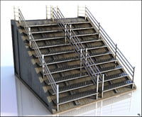 3D model stairs metal