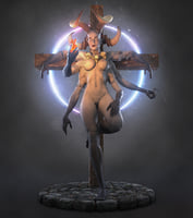 3D goddess kali printing ready model