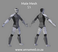 male sale uv 3D model