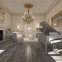 classical interior 3D model